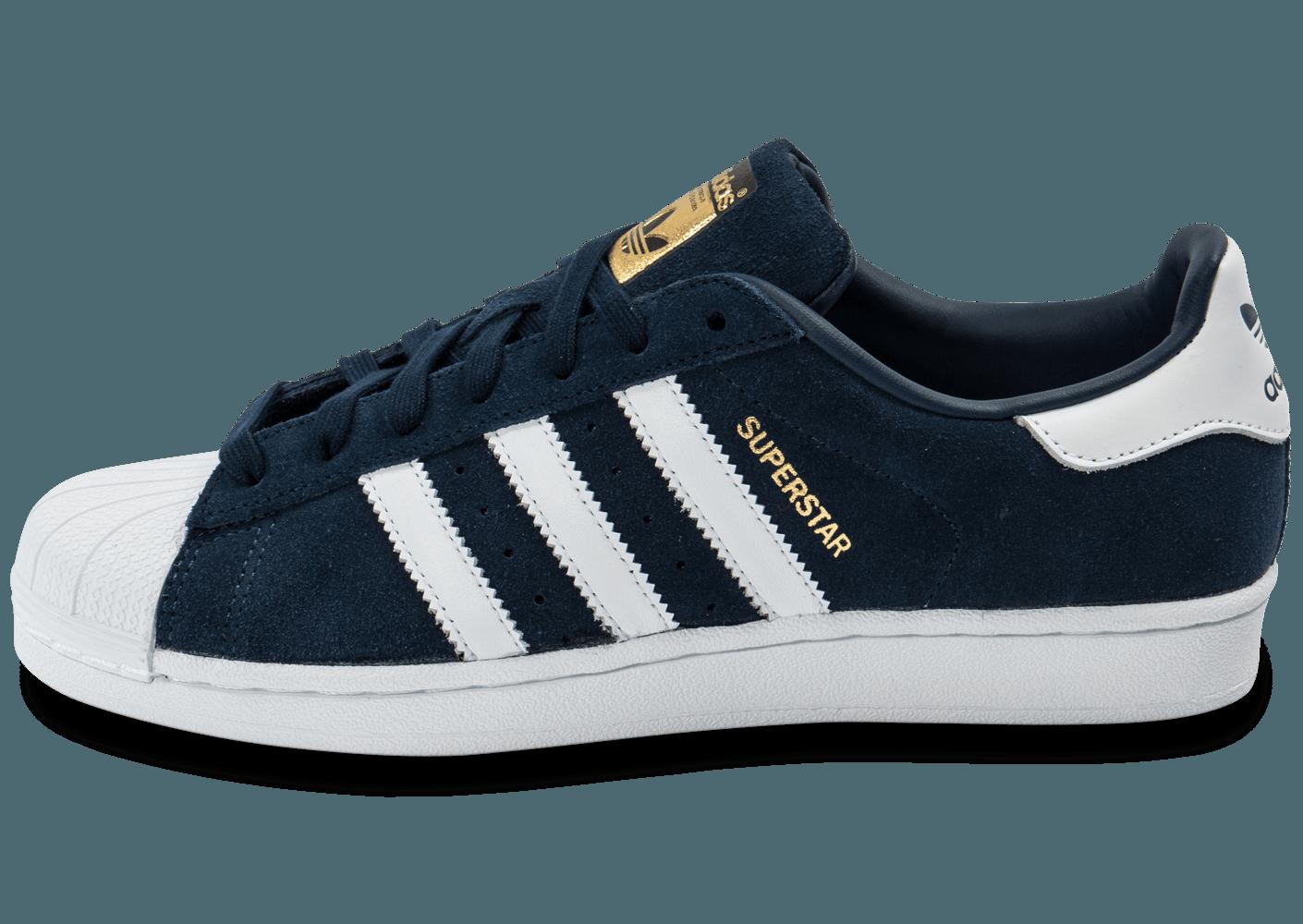 new style 1db6b 0492f adidas superstar bleu marine