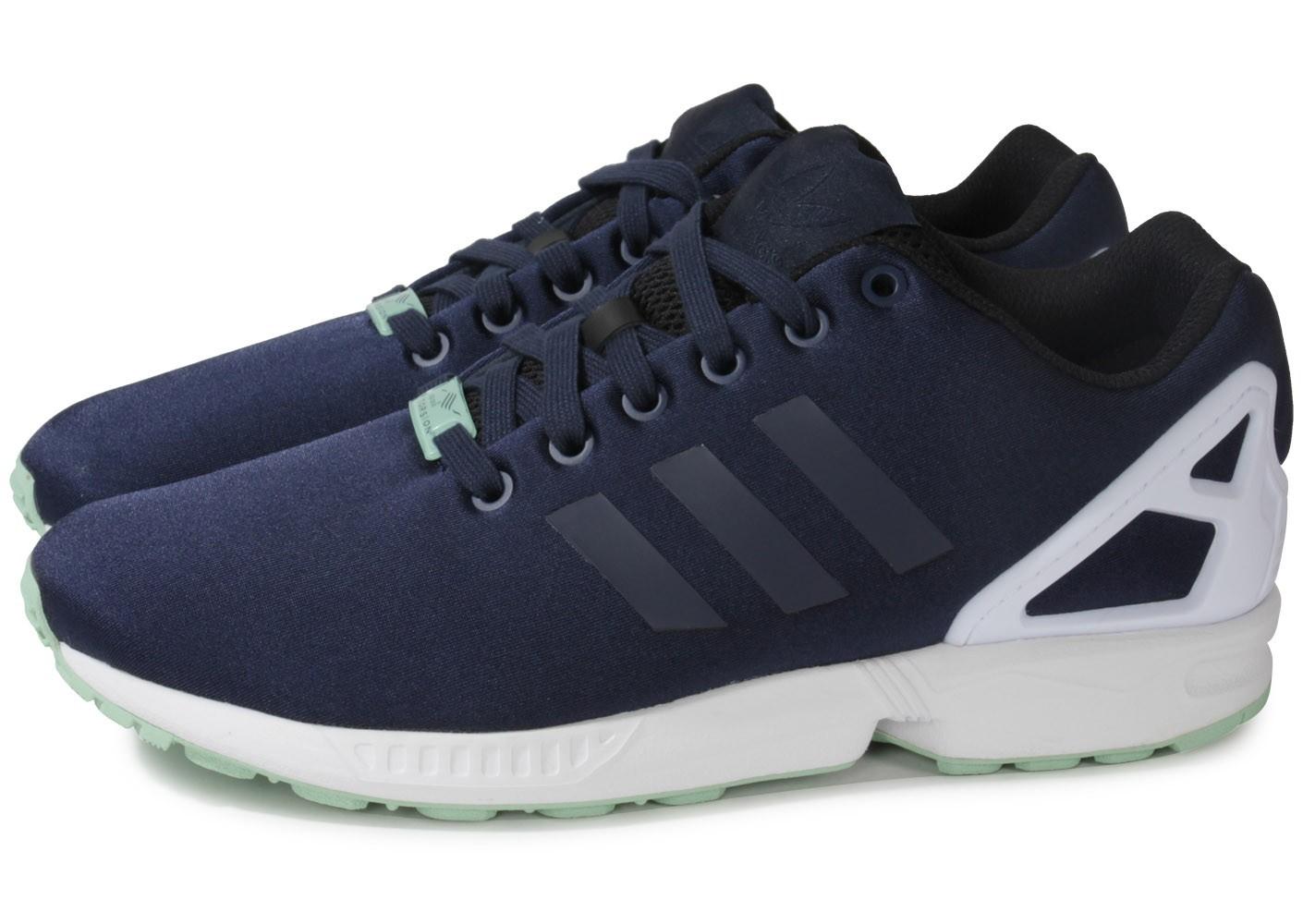 best website fd166 e535d adidas zx flux bleu marine pas cher