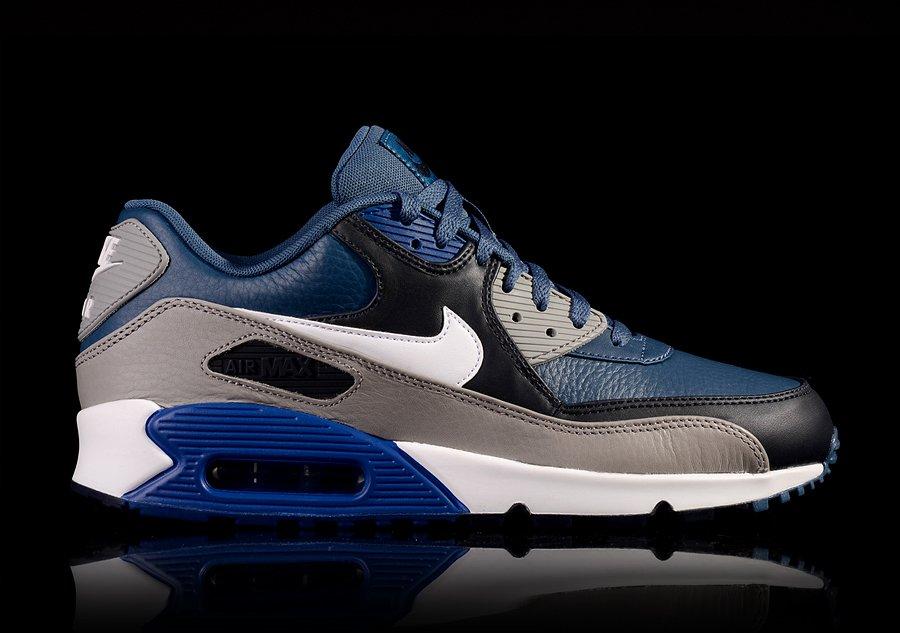 best cheap 73c90 753d1 air max 90 leather bleu